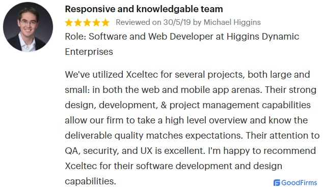 XcelTec Review on GoodFirms