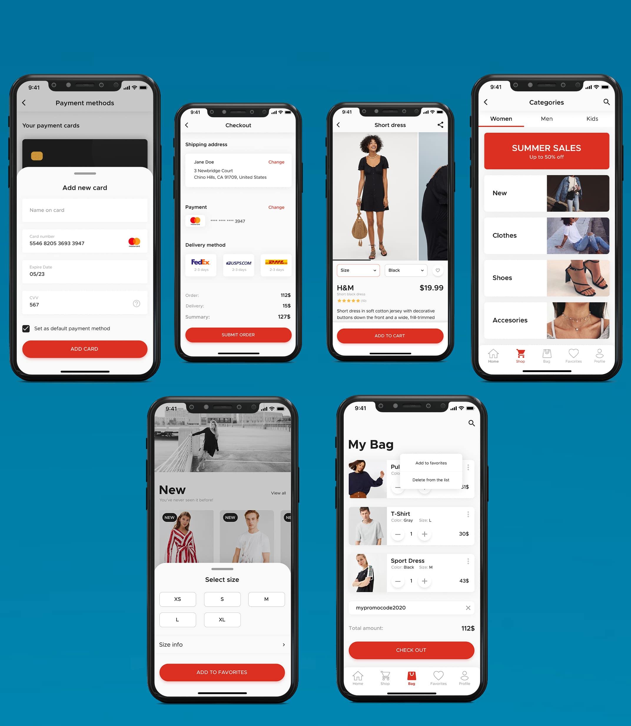online ecommerce app & website