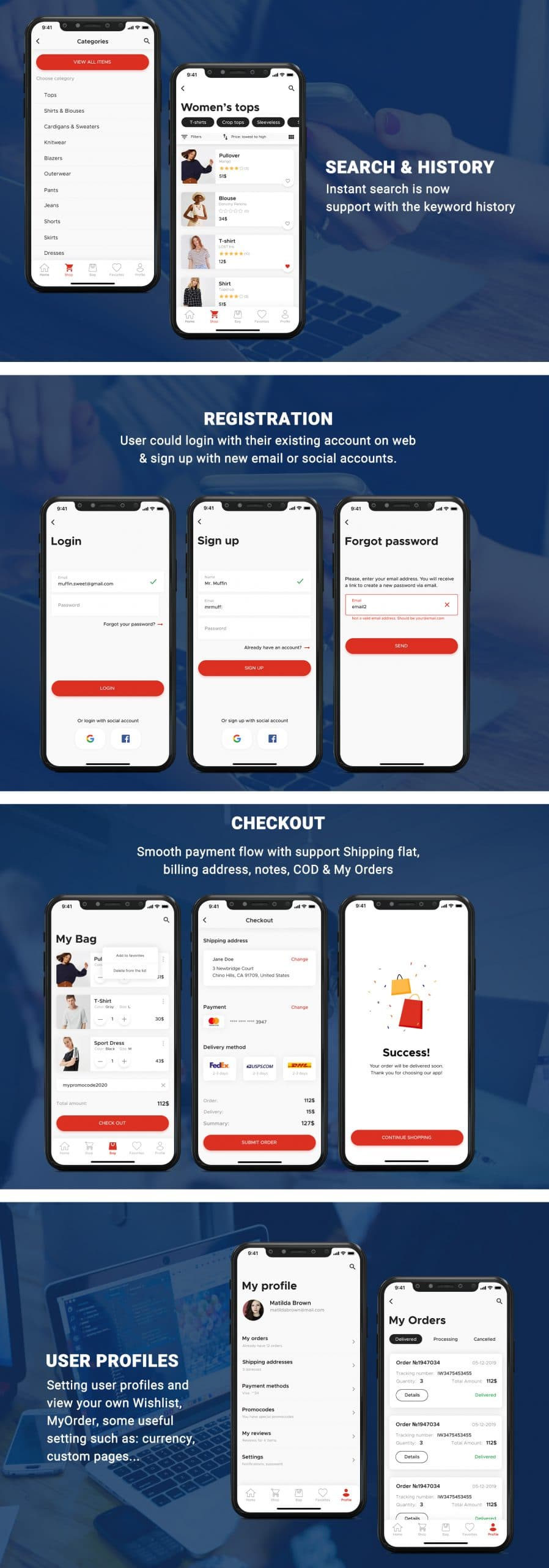 readymade eCommerce app